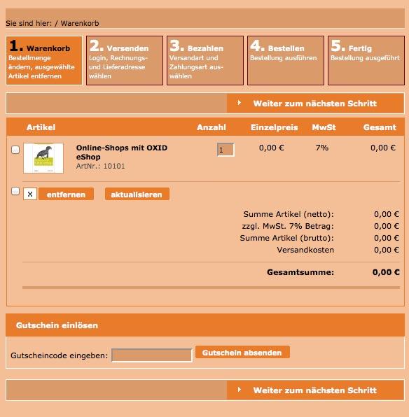 Oxid Basic Template Warenkorb Seite 1 - geändert