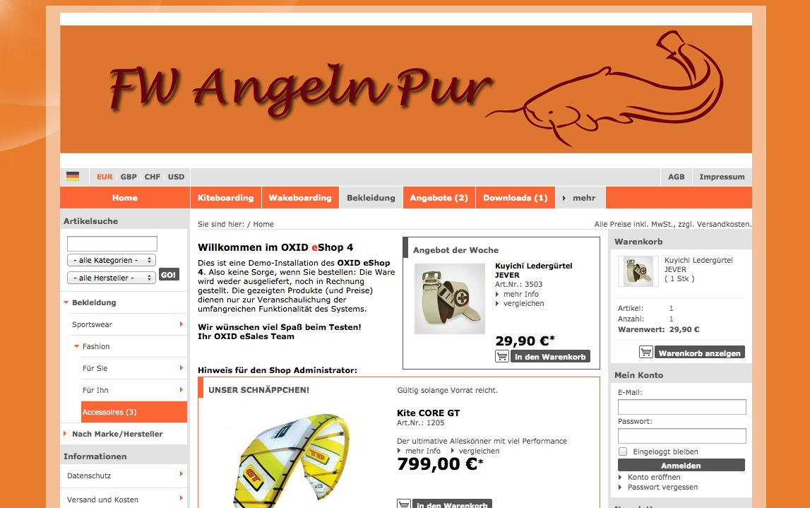 Oxid Basic template page div Hintergrund