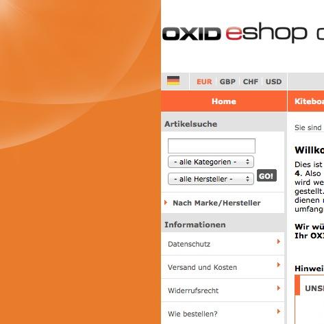 Oxid basic Theme Hintergrundbild