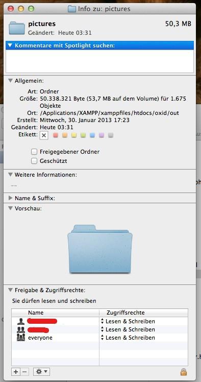 Mac Tutorial - Dateizugriffsrechte - 2