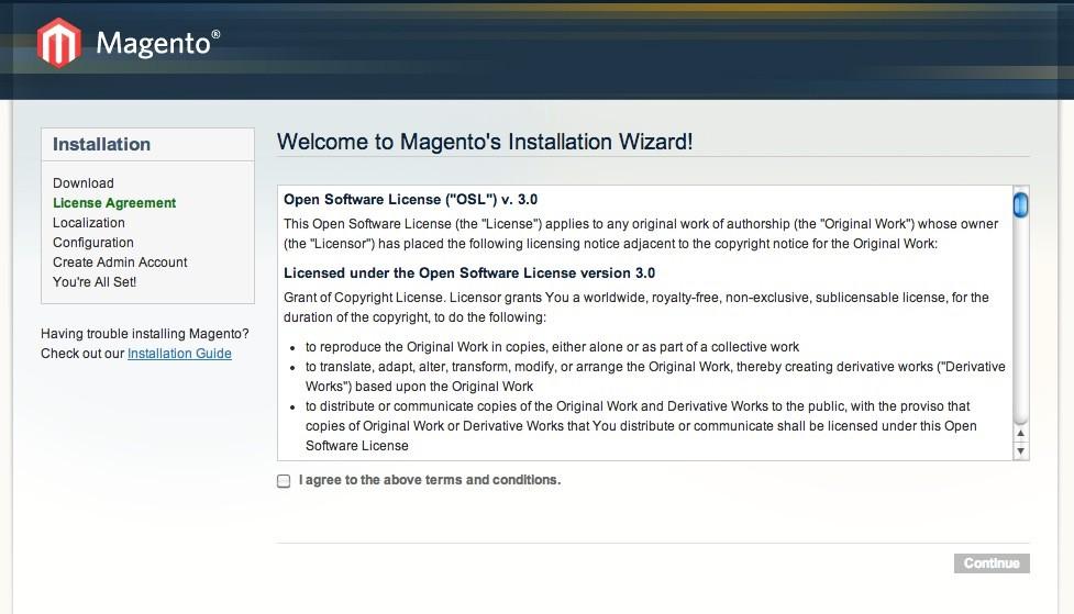 Magento Online Shop installieren