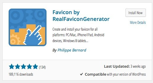 Wordpress Plugin - Favicon by RealFaviconGenerator