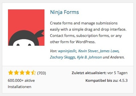Wordpress Plugin - Ninja Forms