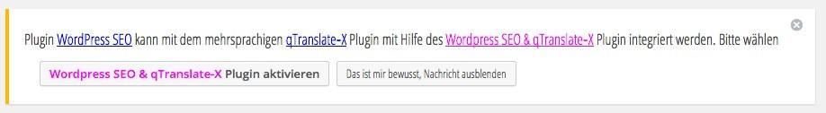 Wordpress Plugings - qtranslate-X und SEO