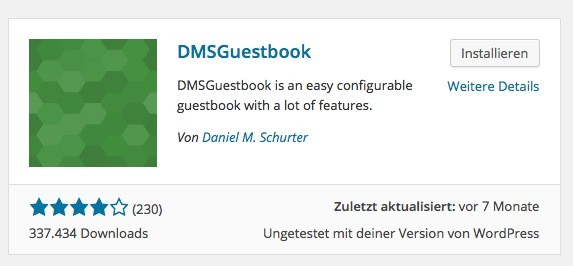 Wordpress Plugins - DMSGuestbook