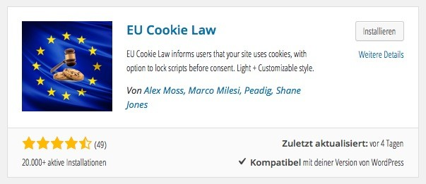 Wordpress Plugins - Eu Cookie Law
