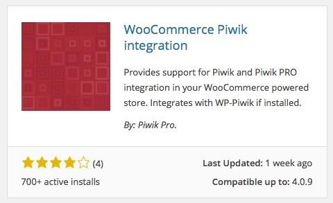 Wordpress Plugins - WooCommerce Piwik integration