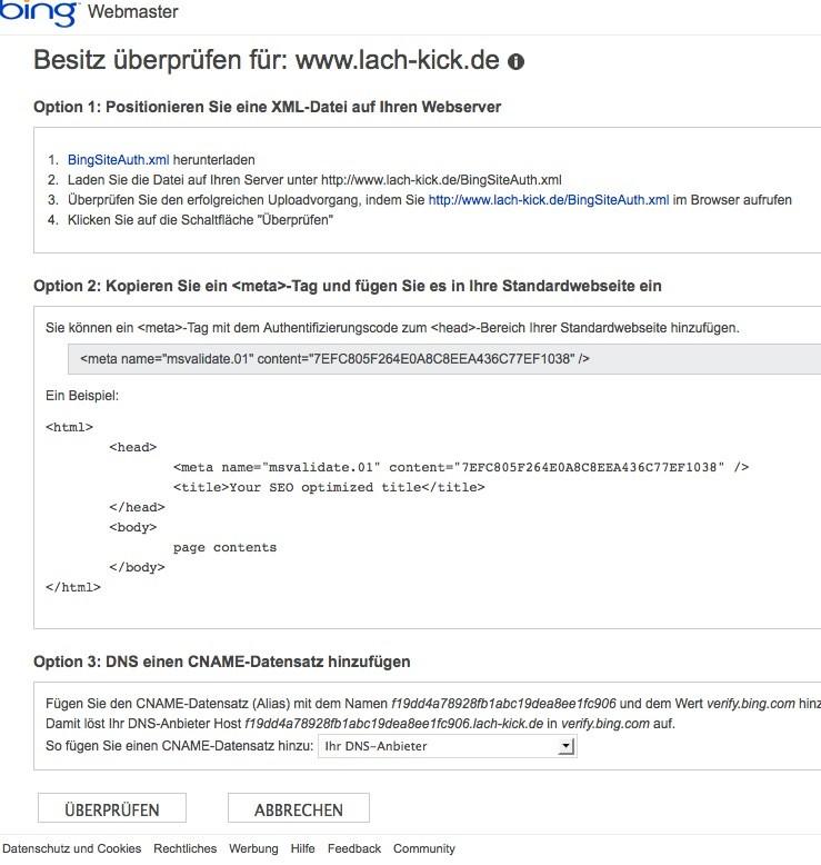 Wordpress SEO - Bing Code