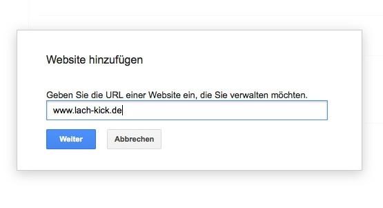 Wordpress SEO - Google Neue Seite