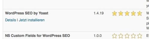 Wordpress SEO - Plugin installieren