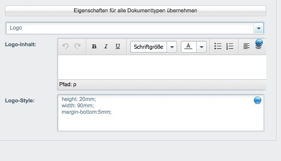 Shopware Konfiguration - PDF Rechnung Insert Button