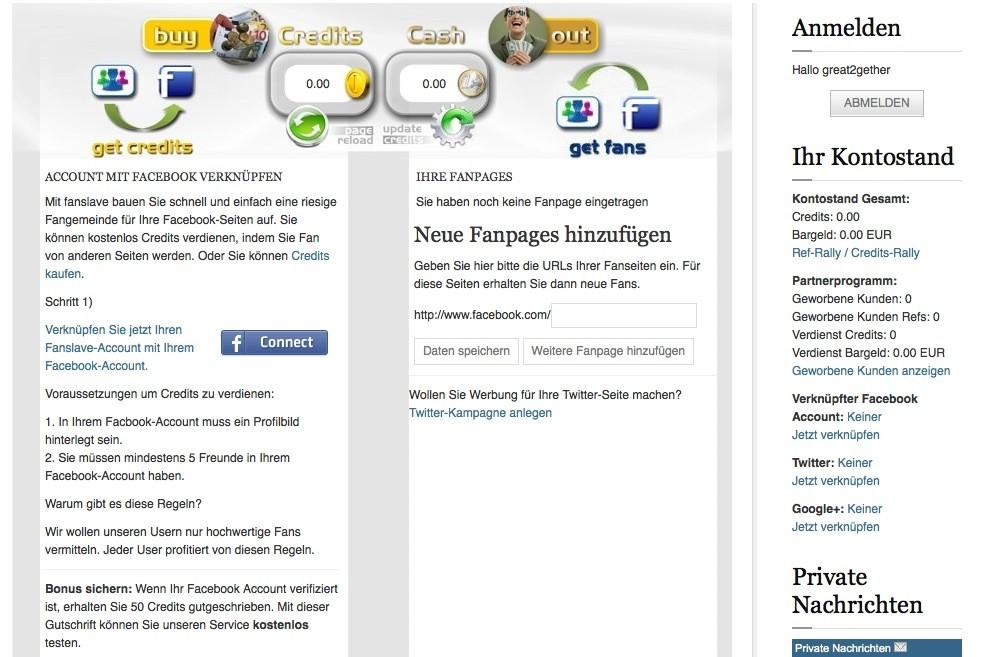 Facebook Likes tauschen - Fanslave.de