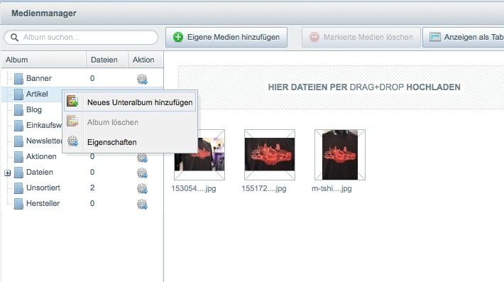 Thumbnail Bilder in Listen anpassen - Medien Manager