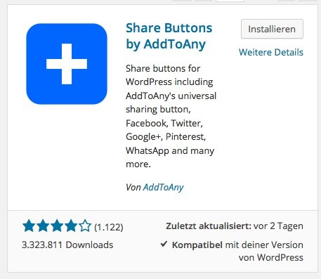 Wordpress Social Share Plugin - AddToAny