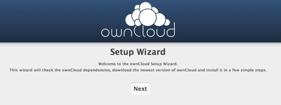 owncloud installieren - Webinstallation