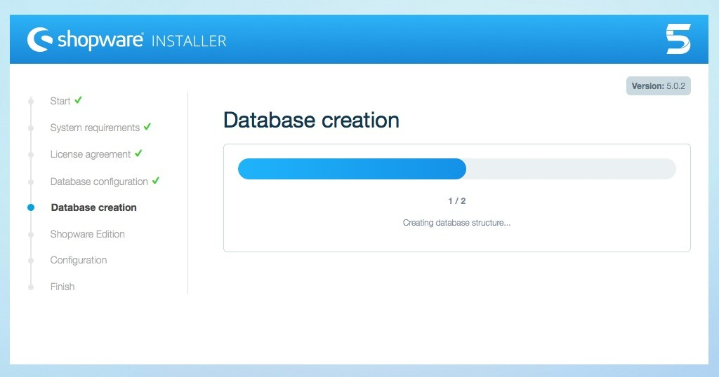 Shopware 5 Installation - Tutorial - Datenbank erstellen 2
