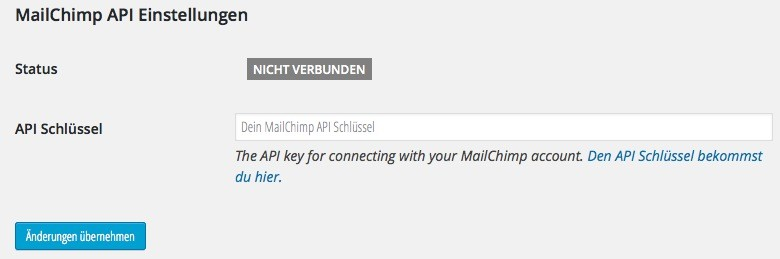 MailChimp API für WordPress