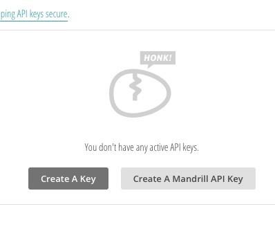 Mailchimp API key erstellen