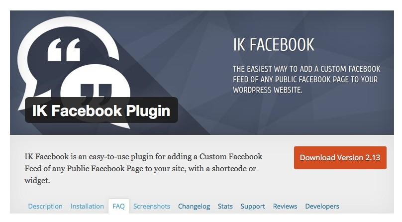 Wordpress Plugins - Facebook Stream
