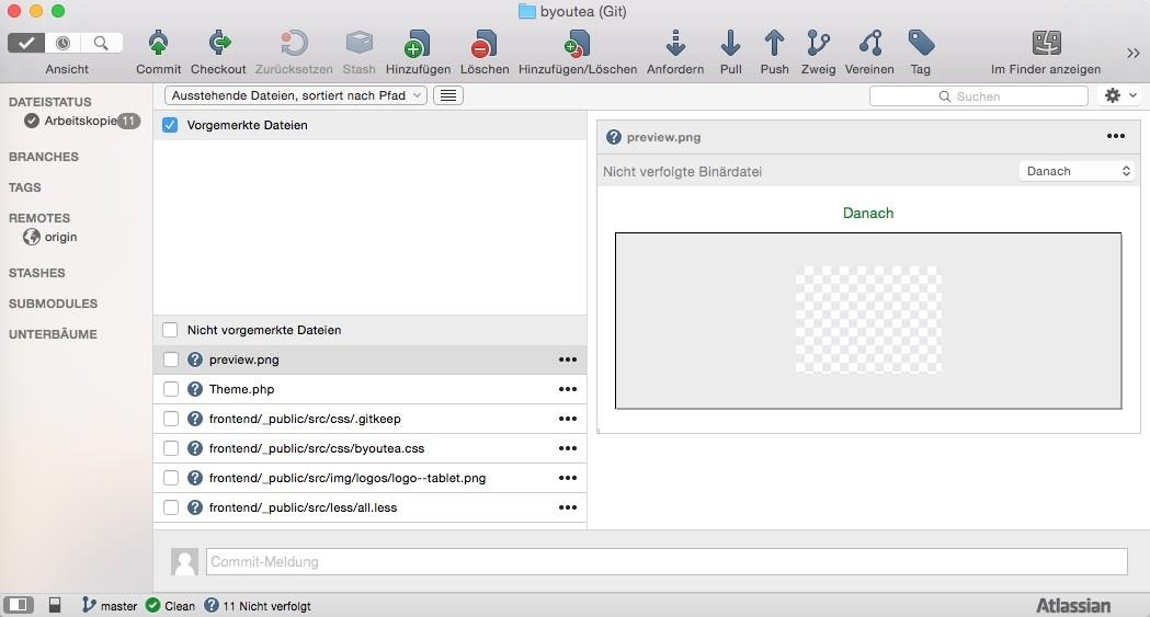 Shopware 5 Entwicklung mit Git - Erster Upload