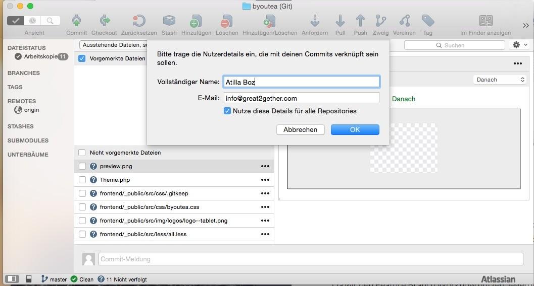 Shopware 5 Entwicklung mit Git - SourceTree User