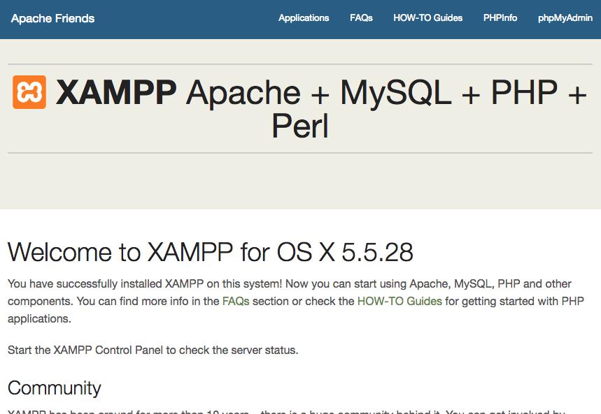 Shopware 5 lokal installieren - XAMPP Startseite