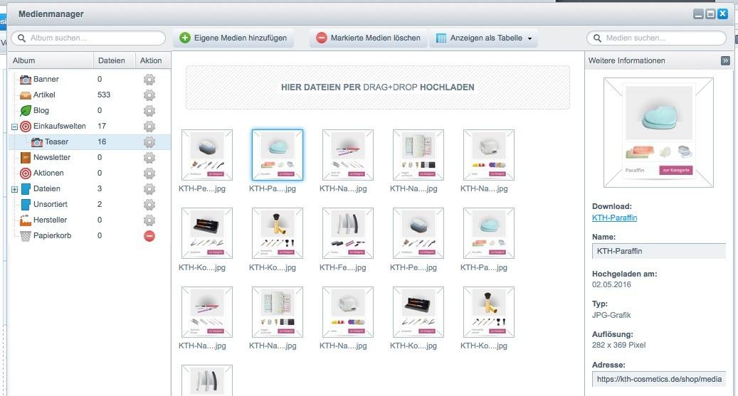 Shopware 5 Konfiguration - unscharfe Bilder