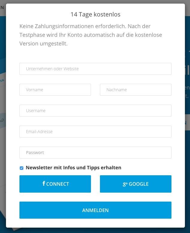 Userlike - Account anlegen