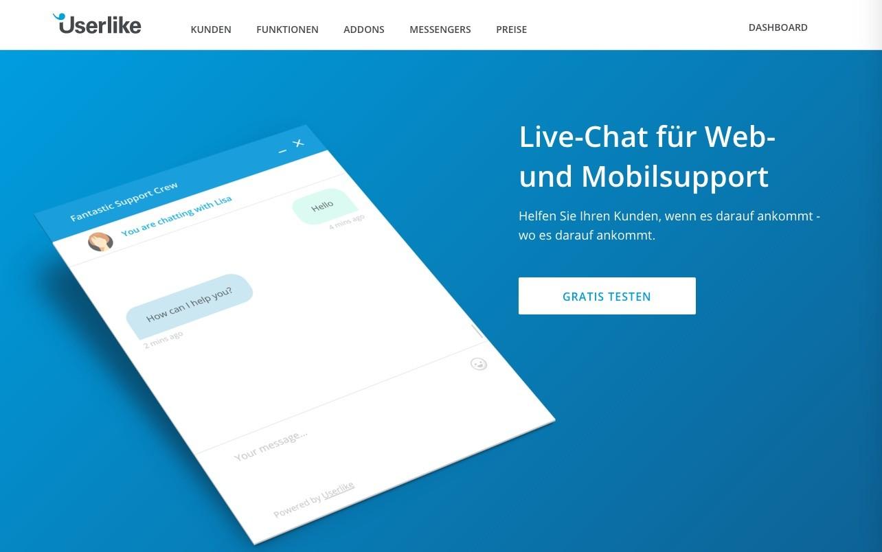 Userlike fuer Shopware 5 - Kostenloser Account