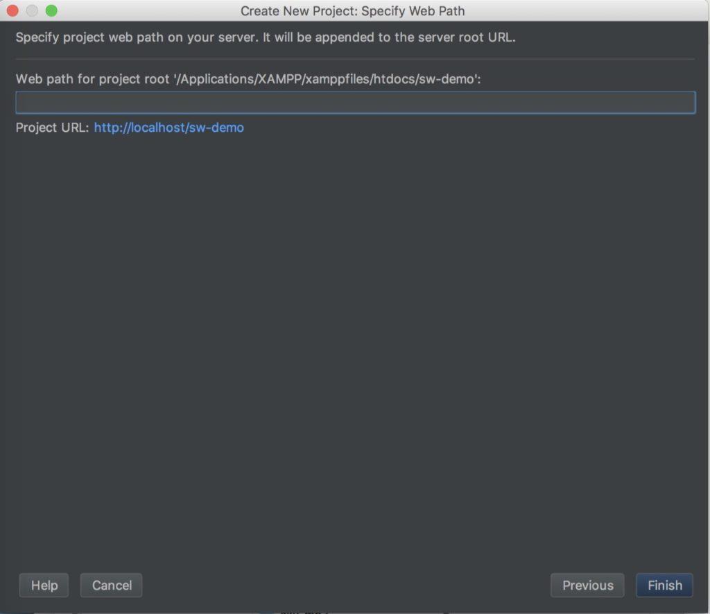 PhpStorm Projekt - Eigene Dateien auf lokalem Server
