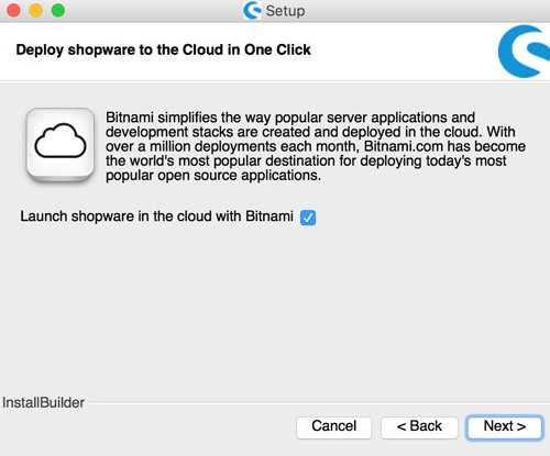 Shopware 5 lokal mit Bitnami Installer installieren - Cloud