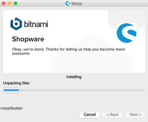 Shopware 5 lokal mit Bitnami Installer installieren - Installation