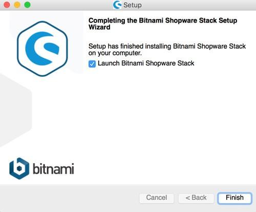 Shopware 5 lokal mit Bitnami Installer installieren - Fertig