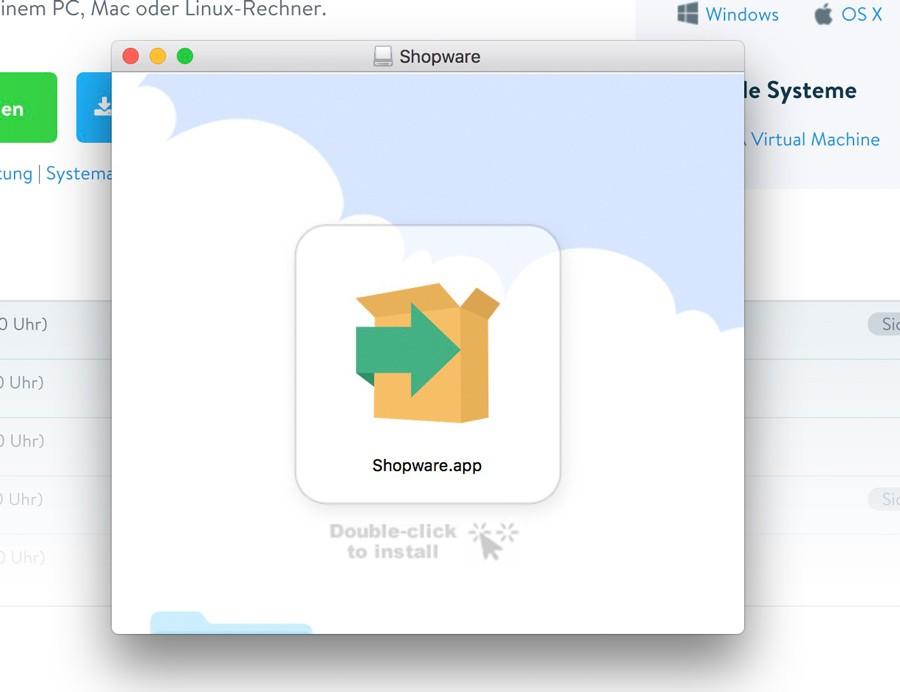 Shopware 5 lokal mit Bitnami Installer installieren - Klicken