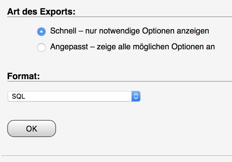 Shopware umziehen / Domain-Transfer - Datenbank Backup, schnelll