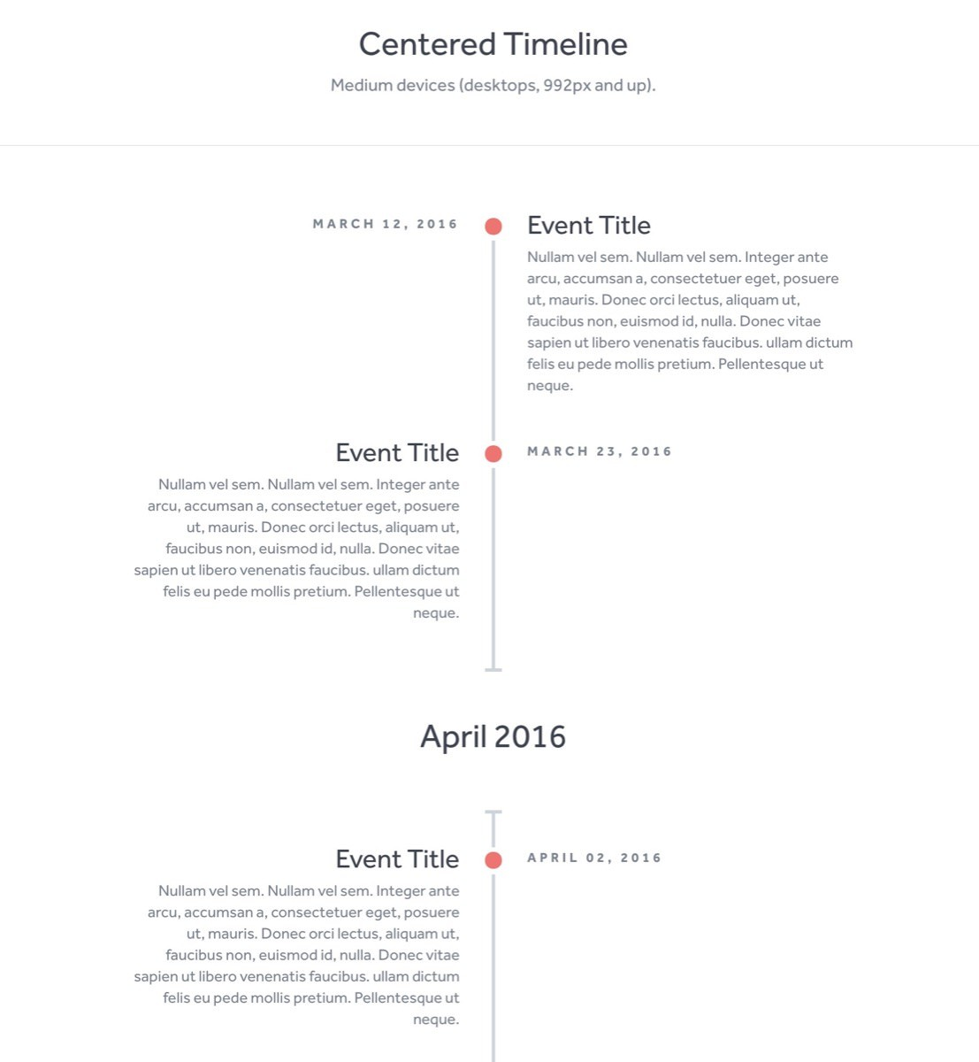HTML & CSS Timeline Skript von: Brady Wright