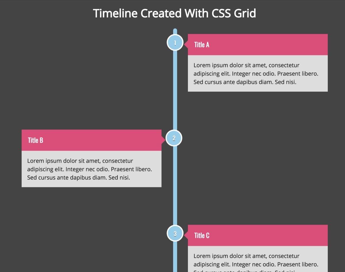 HTML & CSS Timeline Skript von: Dianna Cheng