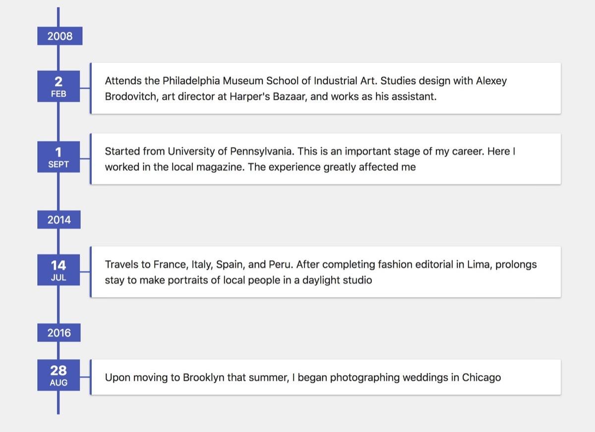 HTML & CSS Timeline Skript von: Stas Melnikov