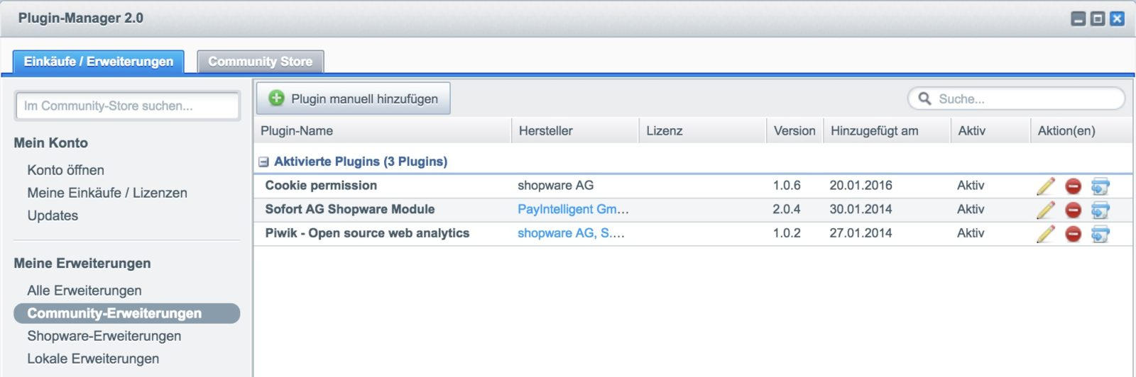Shopware Update auf Shopware 5 - Plugin-Liste
