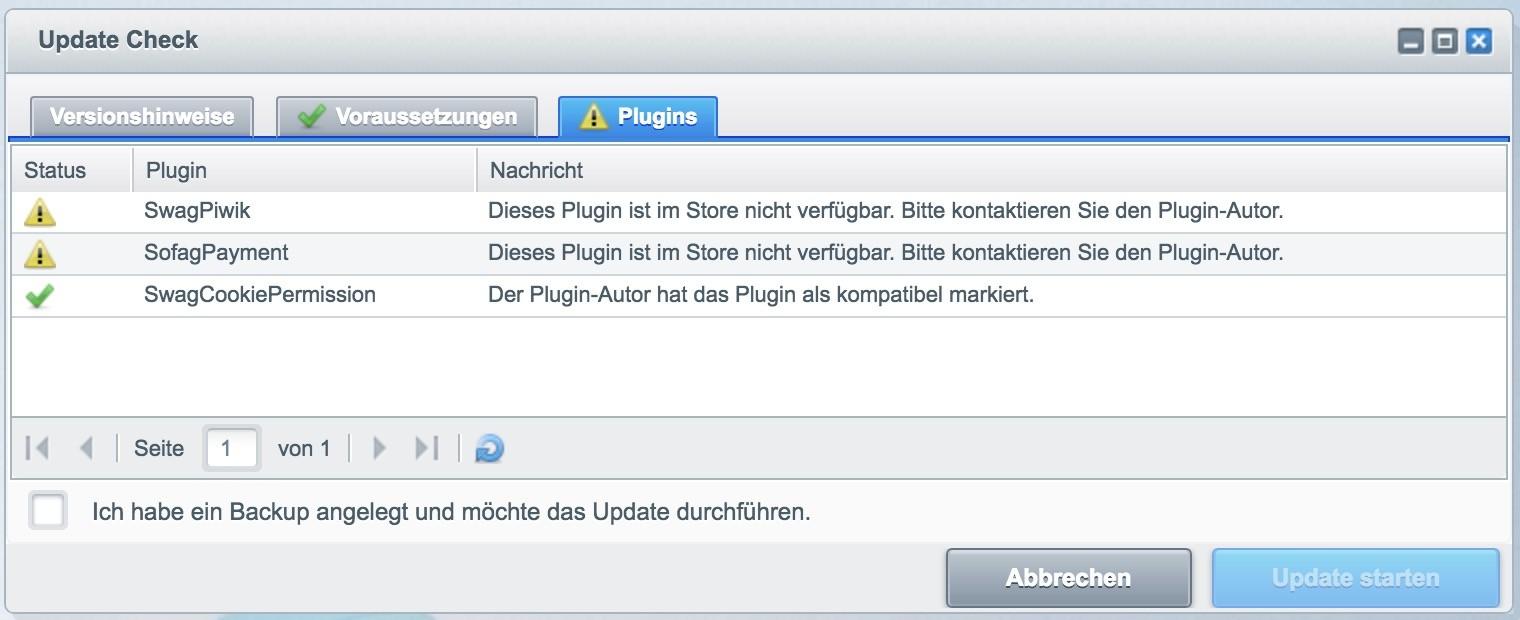Shopware Update auf Shopware 5 - Softawareaktualisierung - Plugins