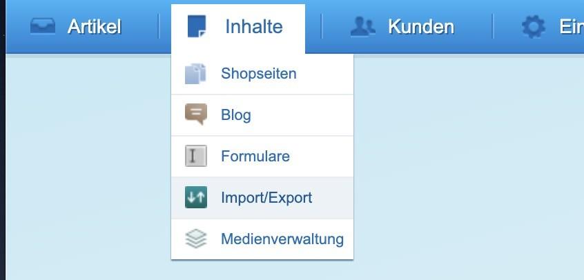 Shopware Kunden exportieren - Inhalte