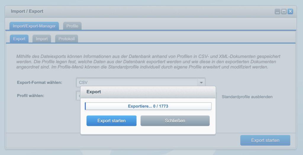 Shopware 5 - Kunden exportieren - Export - Kunden
