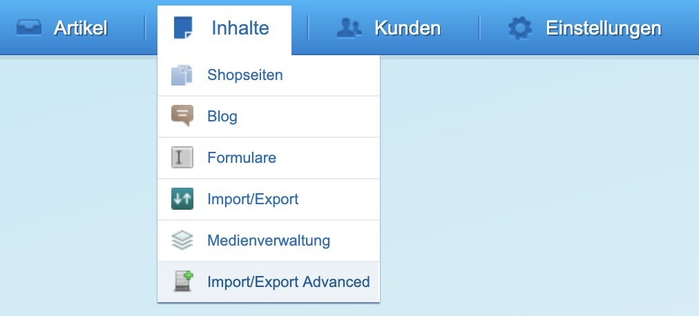 Shopware 5 - Kunden exportieren - Import:Export Advanced Link