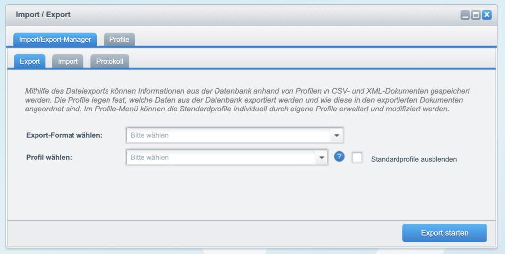 Shopware 5 - Kunden exportieren - Import/Export Advanced Bereich