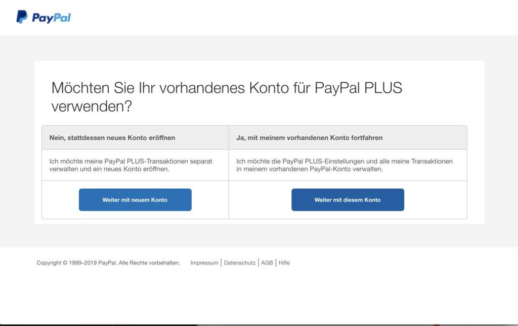Shopware Paypal Plugin - PLUS Konto Auswahl