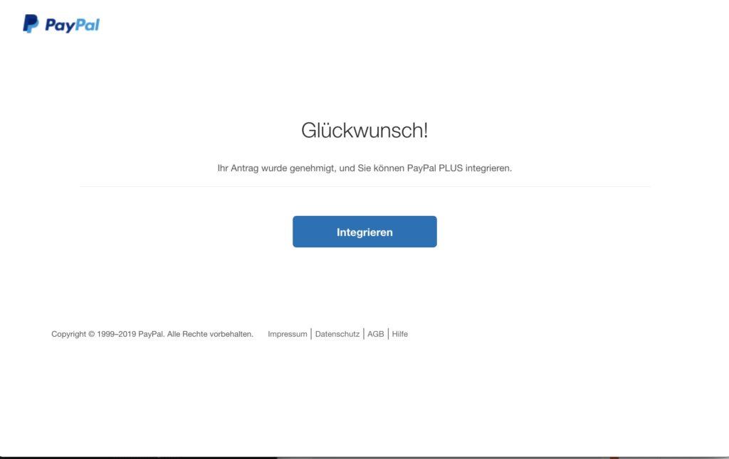 Shopware Paypal Plugin - PLUS Erfolgsmeldung