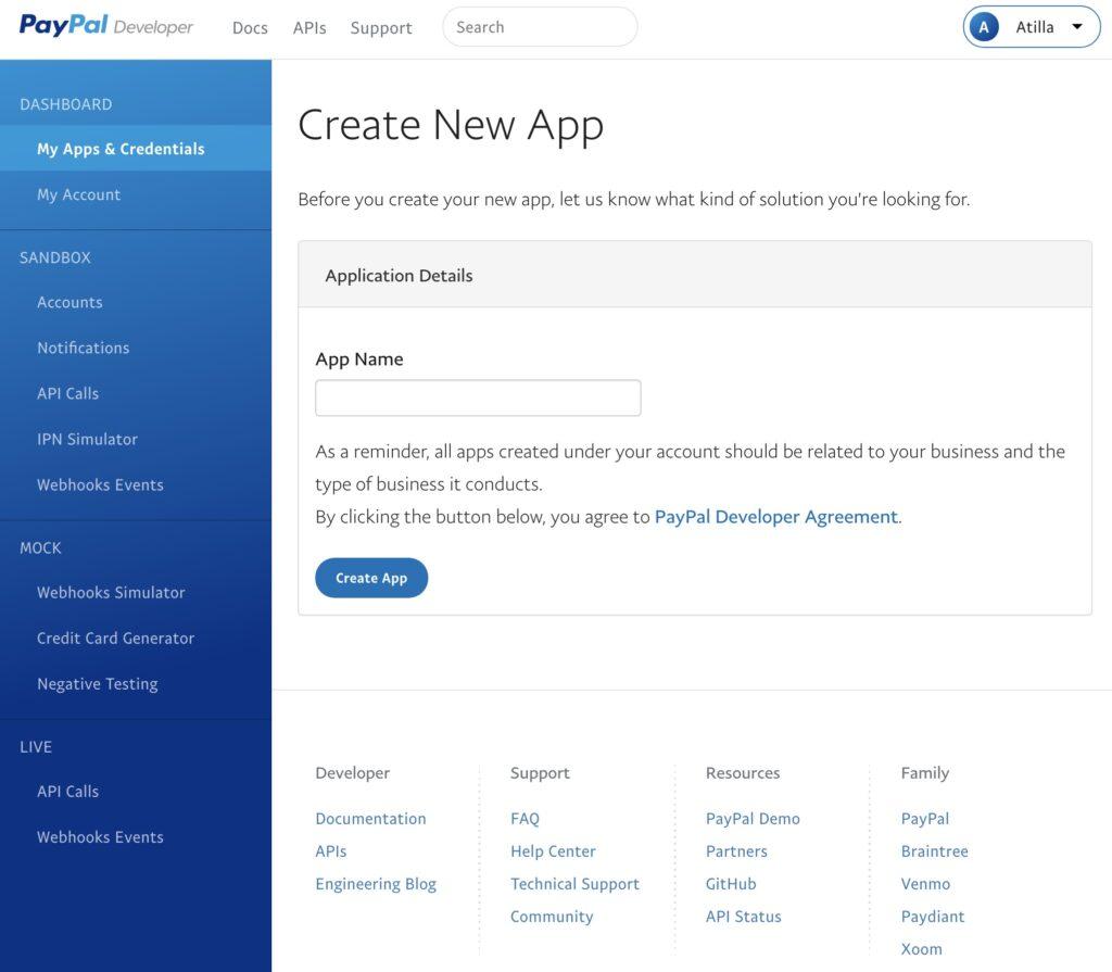 Shopware Paypal Plugin - Live App form