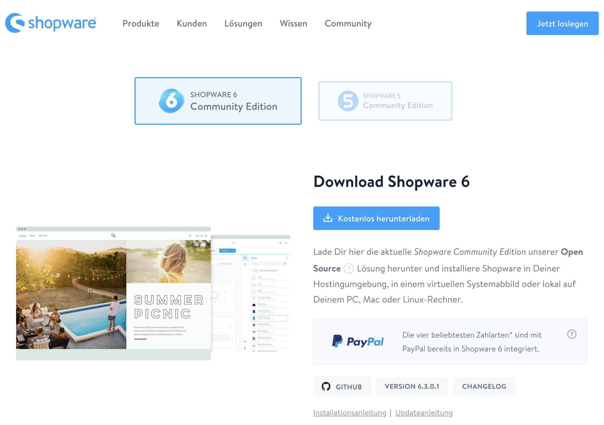 Shopware 6 Installation - Download
