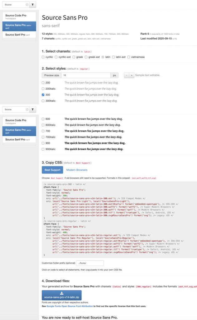 Shopware - Google Fonts lokal einbinden