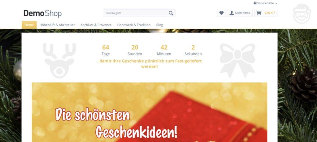 Shopware 5 -Countdown-Plugins -Weihnachten